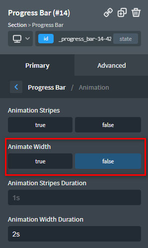 Animate the Progress Bar when it enters the viewport
